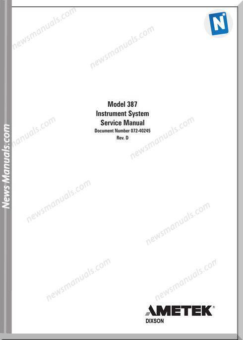 Peterbilt-Pb387 Instrument System Service Manual