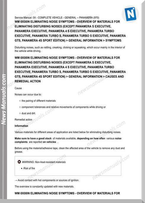 Porsche Panamera Service Repair Workshop Manual