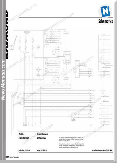 Raymond Forklifts 5400-5600 Sn 100 Up Schematics Manual