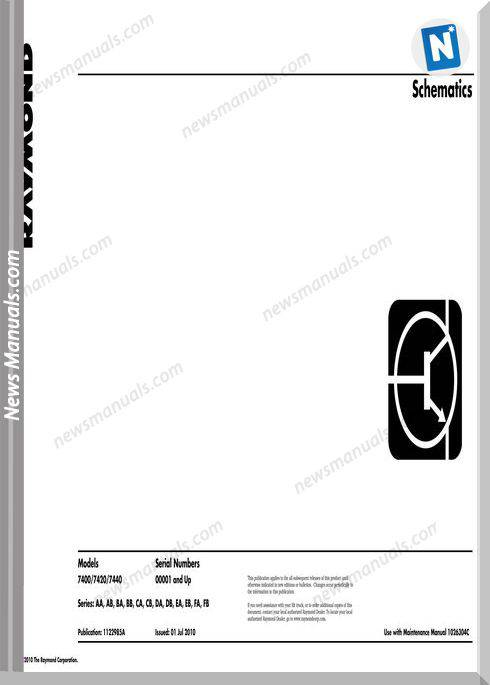 Raymond Forklifts 7400 Schematic Schematics Manual