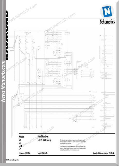Raymond Forklifts C30 C35 C355 C40 Schematics Manual