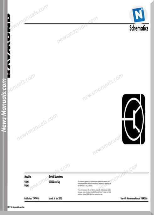 Raymond Forklifts Ray 9300-9400 Schematics Manual