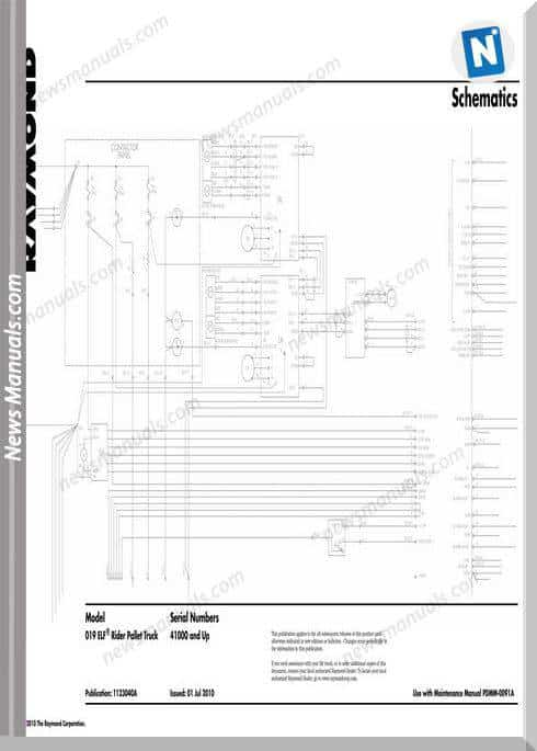 Raymond Forklifts S019 Elf Sn41000 Up Schematics Manual