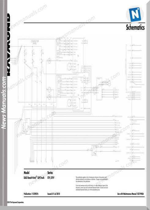 Raymond Reach Fork Lift Truck Et Dt Schematics Manual