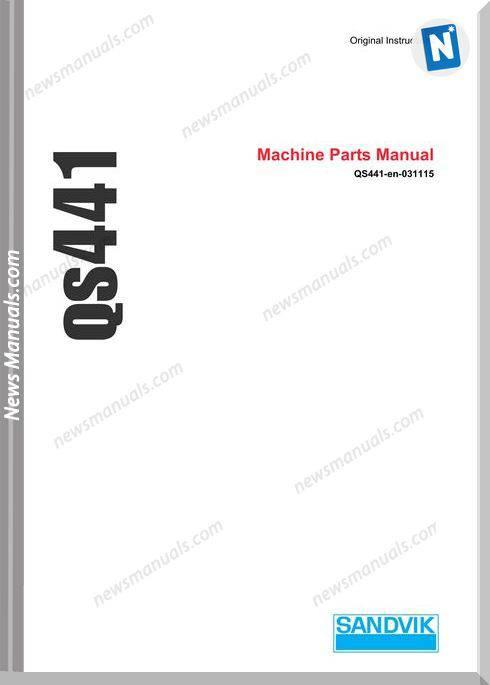 Sandvik Model Qs441 Parts Manualss