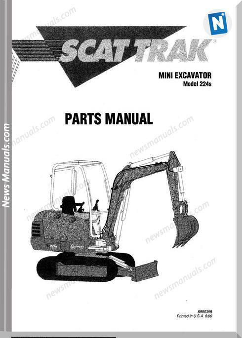 Scat Trak 224S 8990398 Parts Book