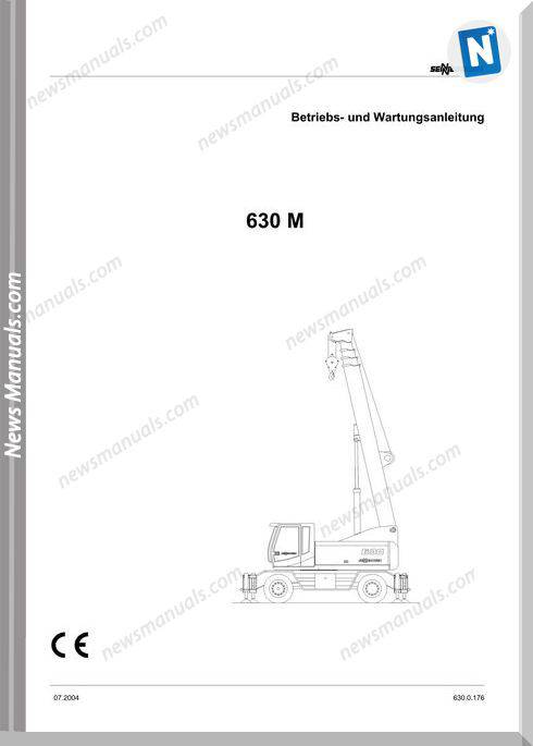Senneboge Crane 630 M 0.176 De Language Operator Manual