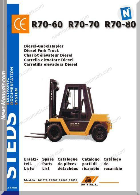 Still Steds Diesel Fork Truck R70 60 R70 70 R70 80 Parts Manual
