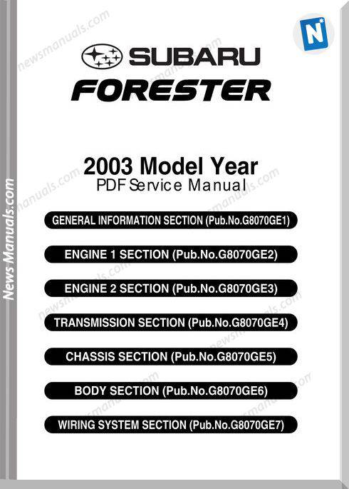 subaru engine manuals