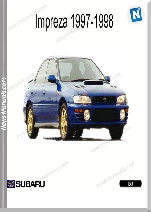 Subaru Impreza G10 1997-1998 En Service Manuals