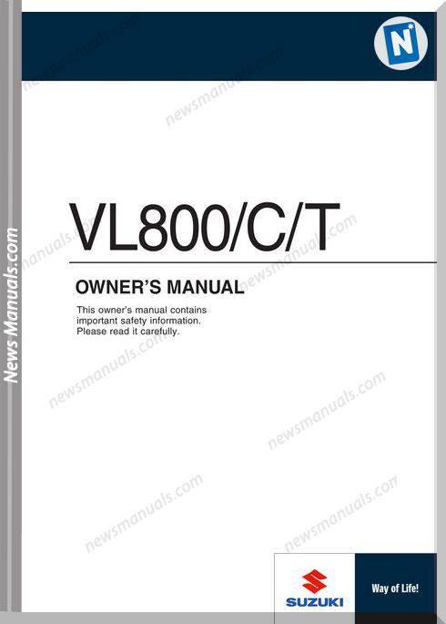 Suzuki C50 Owners Manual