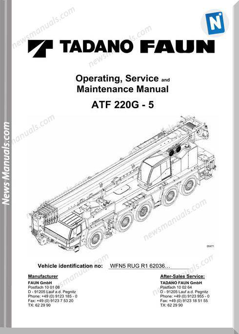 Tadano Faun Atf 220G-5 Service And Maintenance Manual