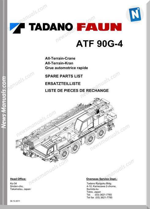 Tadano Faun Tf90G-4 Spare Parts List