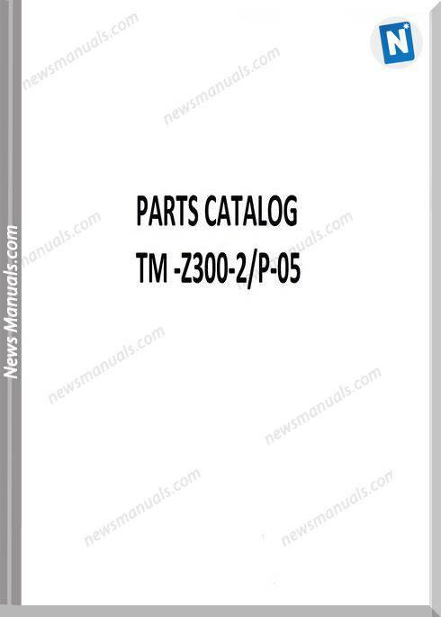 Tadano Tm-Z300-2,P-05 Parts Catalog