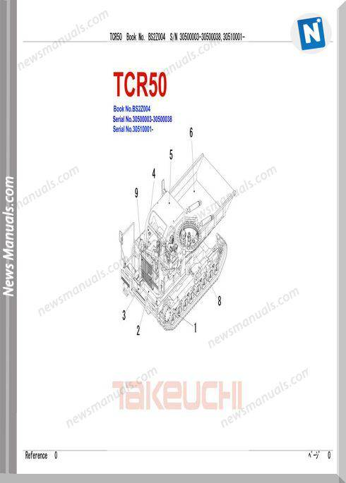 Takeuchi Dum Carrier Tcr50 Parts Manual