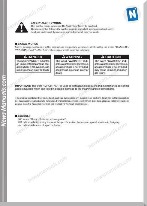 Takeuchi Excavator Tb28Fr-Cf4E001 Workshop Manual