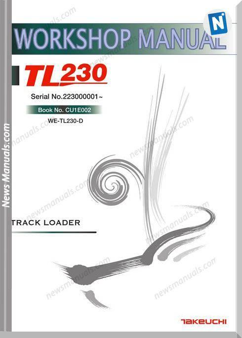 Takeuchi Models Tl230 Cu1E002 English Workshop Manuals