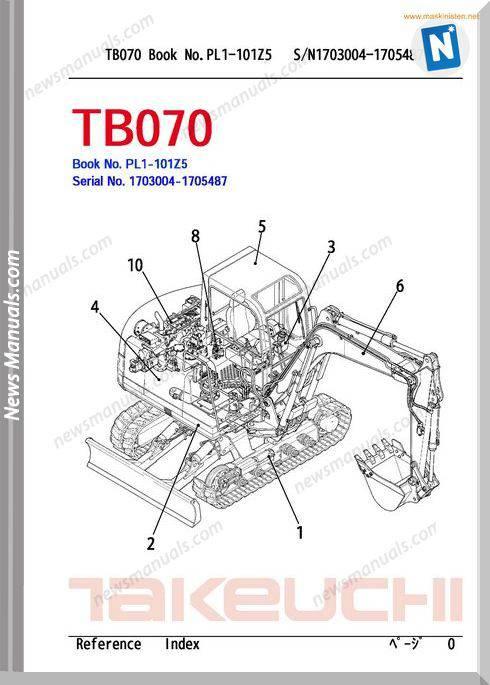 Takeuchi tb 070 Spareparts Sec Wat