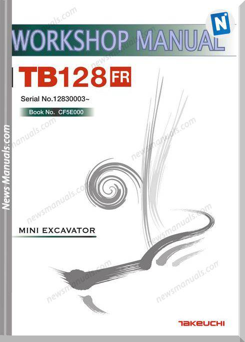 Takeuchi Tb128 Fr Workshop Manual