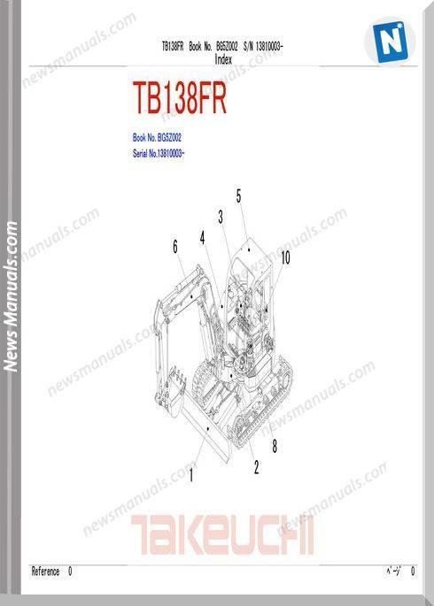 Takeuchi Tb138 Models French Parts Manual