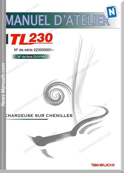Takeuchi Tl230 Cu1F001 French Language Service Manual