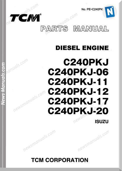 Tcm Diesel Engine C240Pkj Models English Parts Manual