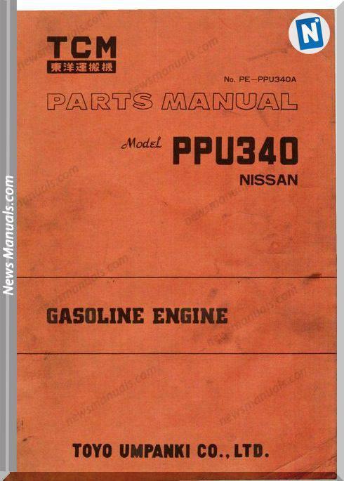 Tcm Forklift Pe-Ppu340A No Sef 0F7Be Parts Manual