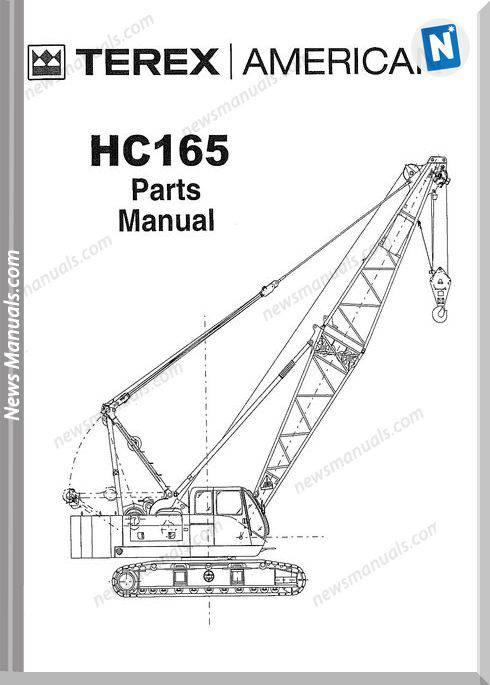 terex american hc165 models parts manual