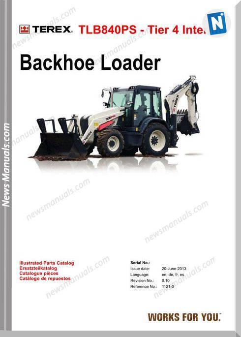 Terex Backhoe Loaders Terex Tlb840Ps Parts Catalogue