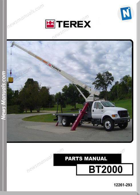 Terex Cranes Bt2000 Boom Trucks Parts Manual