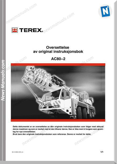 Terex Demag Ac 80-2 Operation And Maintenance Manual