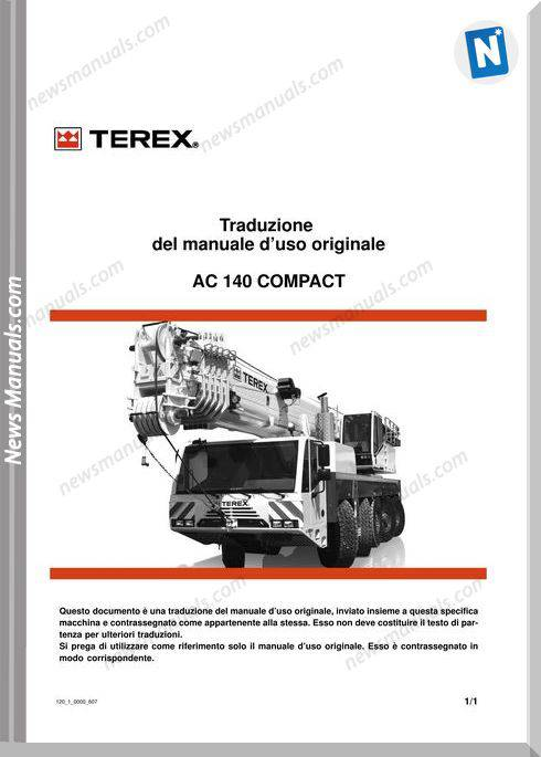 Terex Demag Ac120-1 Instruction Manual Italian