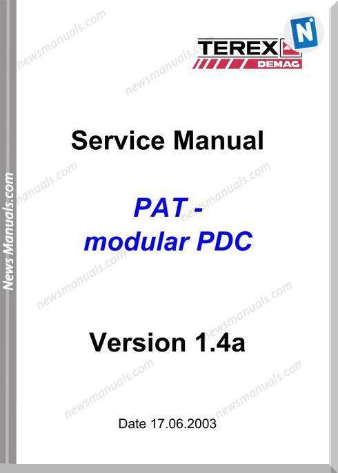 Terex Demag Pat-Modular Pdc 1.4A Service Manual