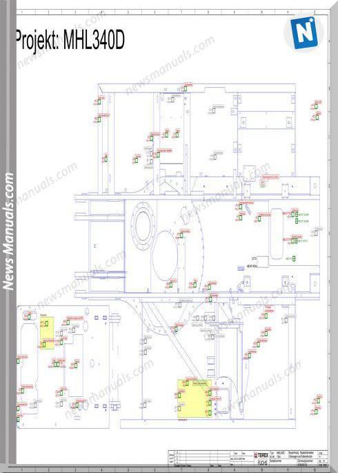 Terex Fuchs Mhl 340D 1994-2376 Wiring Diagram