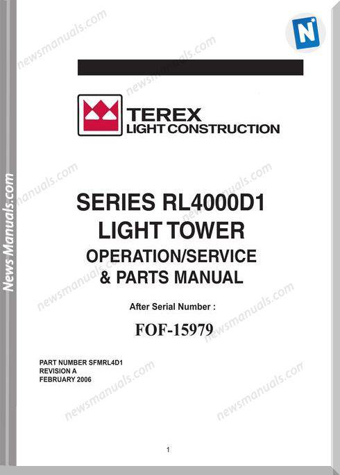 Terex Genie Series Lr4000D1 Operation And Parts Manual