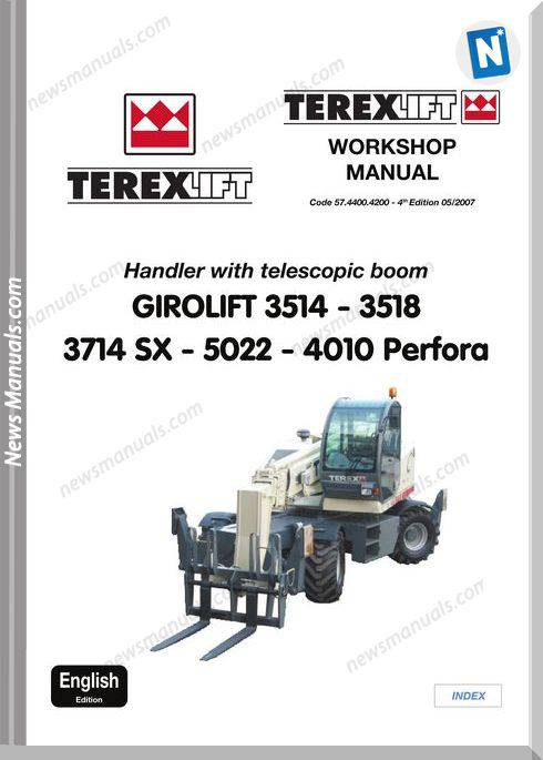 Terex Girolift 3514 - 5022 Telescopic Workshop Manual