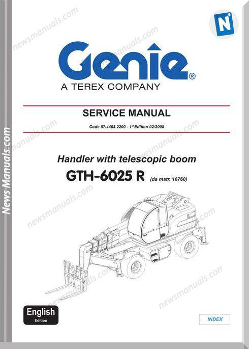 Terex Lift Codes 57.4403.2200 Workshop Manual