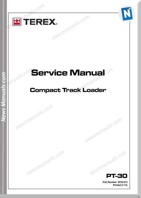 Terex Pt-30 Compact Track Loader 2010513 Service Manual