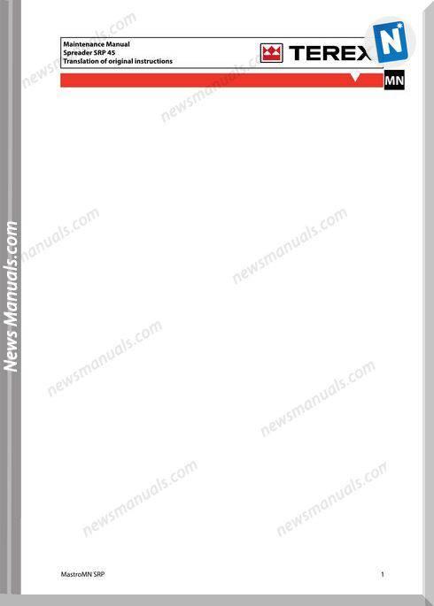 Terex Spreader Srp 45 Maintenance Manual