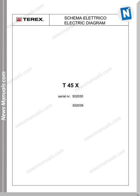 Terex T45X Electric Wiring Diagram