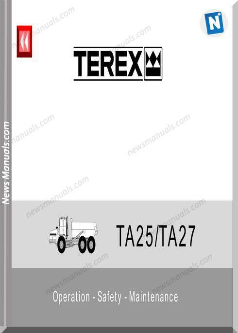 Terex Ta25 27 Operation Safety Maintenance