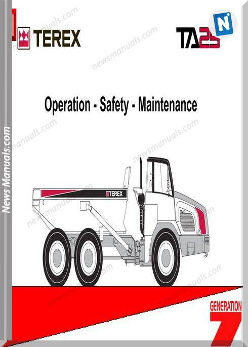 Terex Ta25 A874 Op Operator Manual
