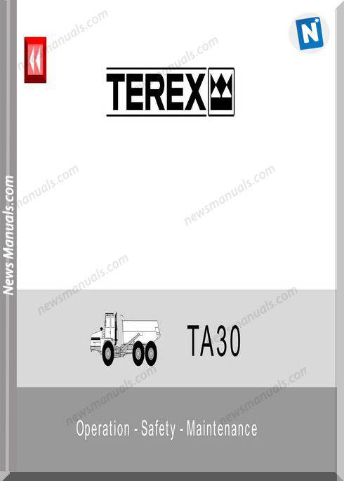 Terex Ta30 Operation Safety Maintenance