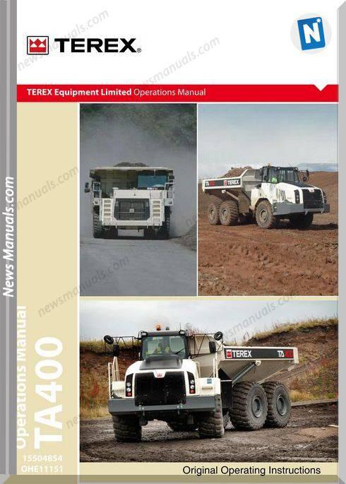 Terex Ta400T4 A11151 15504854 Ohe11151 Operator Manual