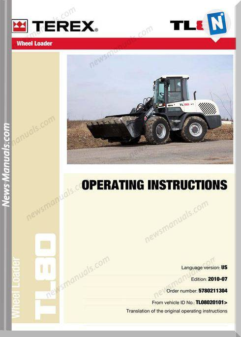 Terex Tl80 - Operator Operator Manual