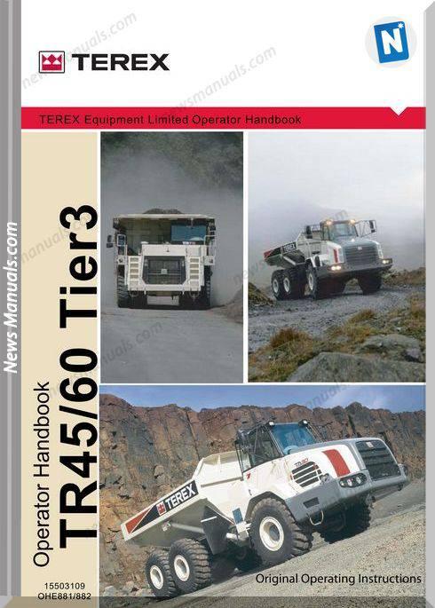 Terex Tr45 Tr60 T881 882 Op Operator Manual