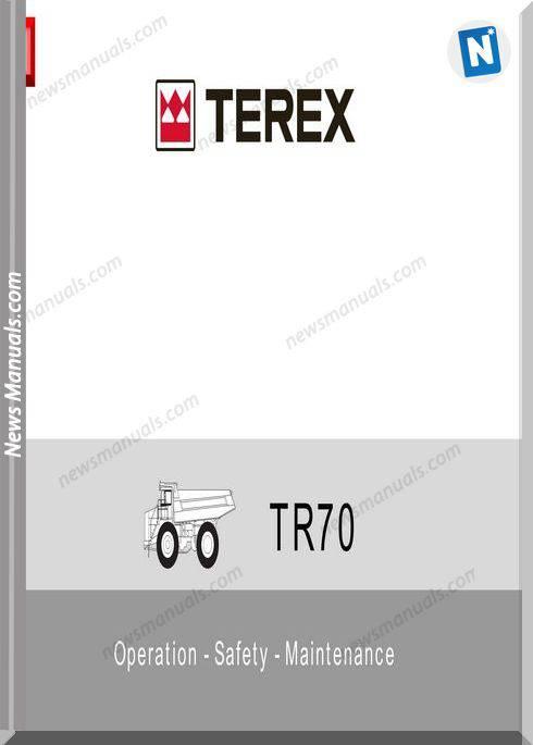 Terex Tr70 T789 Op Operator Manual