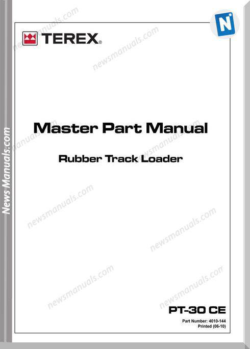 Terex Track Loaders Pt-30 Ce Master 8-10 Part Manual