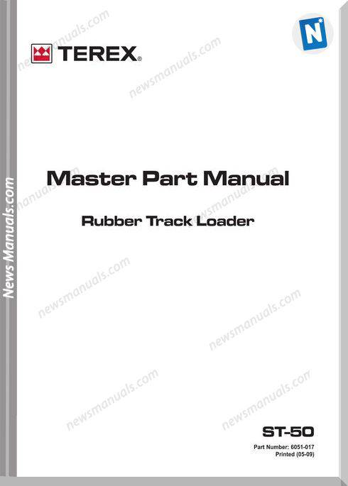 Terex Track Loaders Us Terex St-50 Master Part Manual