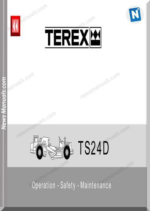 Terex Ts24D Operation Safety Maintenance